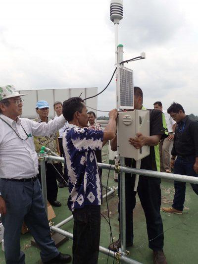 インドネシアBPPT(科学技術応用庁)研究所の屋上に設置