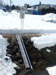 北海道 内水河川に設置した水位計