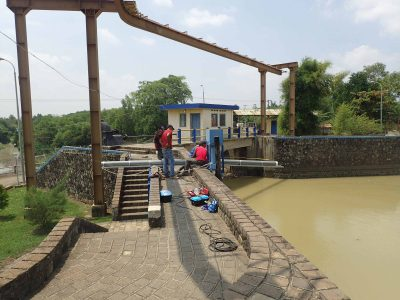 水田に供給する用水の水質監視